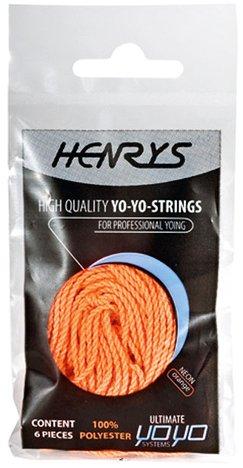 Henrys YoYo Strings - Pack of 6 - UV Orange