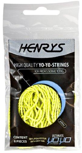 Henrys YoYo Strings - Pack of 6 - UV Yellow