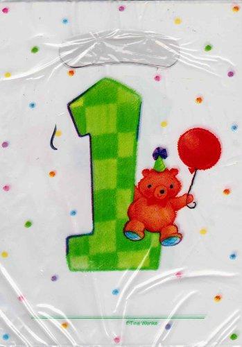 1st Birthday Teddy Bear Favor Bags 8ct