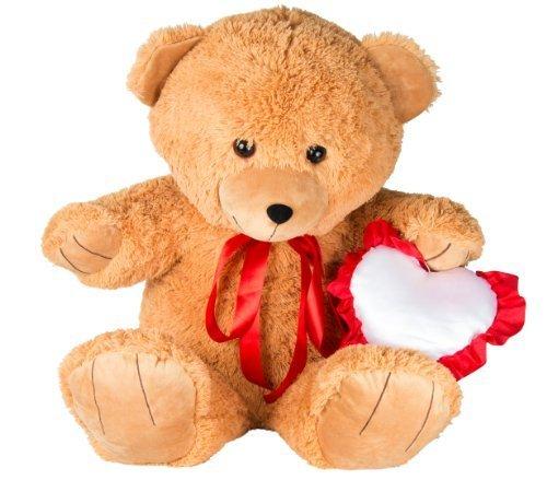 U-B Cuddly 2ft Tall Jumbo Happy Birthday Teddy Bear with Red Ribbon and Heart by U-B Cuddly