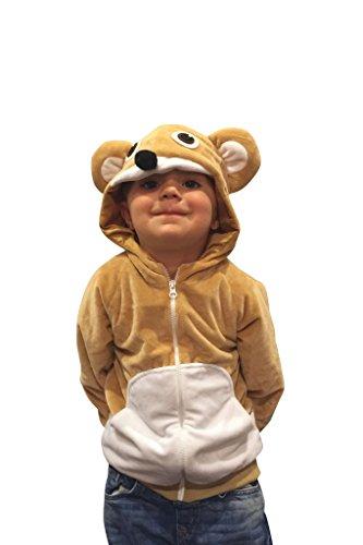 ComfyCamper Teddy Bear Costume Animal Play Sweatshirt Hoodie Boys  Girls 4-6 Years