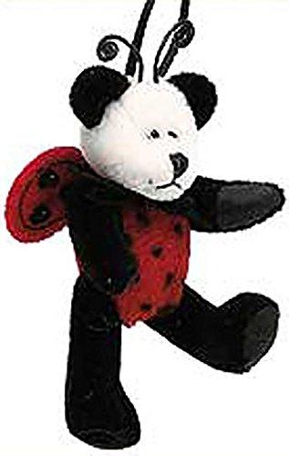 Boyds Plush TF Wuzzies Ladybug Tweedle Panda Jointed Teddy Bear Ornament
