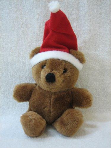 Teddy Bear with Stocking Cap Christmas Ornament 6 Plush