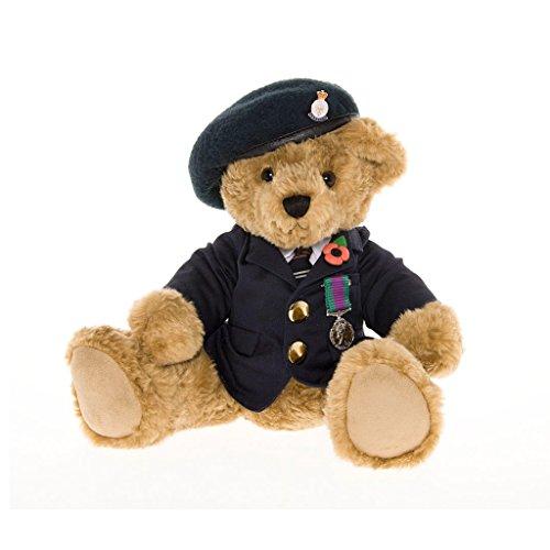 Veteran Teddy Bear Wearing a Blue Beret - the Great British Teddy Bear co