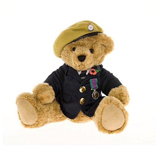 Veteran Teddy Bear Wearing a Khaki Beret - the Great British Teddy Bear Co by The Great British Teddy Bear Company