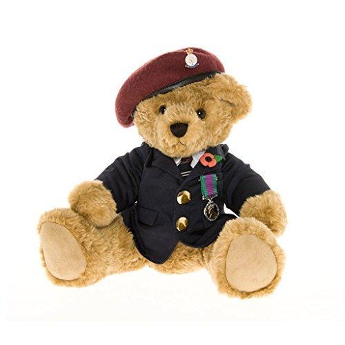 Veteran Teddy Bear Wearing a Red Beret - the Great British Teddy Bear Co by The Great British Teddy Bear Company