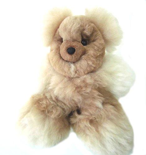 Alpakaandmore Handmade Alpaca Fur Teddy Bear Light Brown