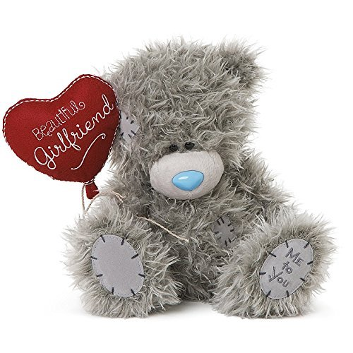 Me To You Tatty Teddy Plush - Beautiful Girlfriend holding Heart Balloon - 8 inch sitting by Me To You