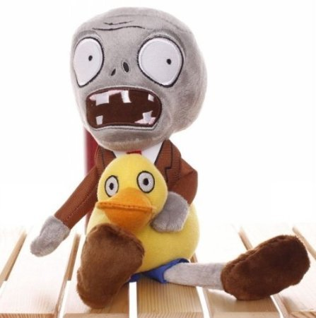 Plants Vs Zombies Plush Toy Ducky Tube Zombie 28cm11 Tall