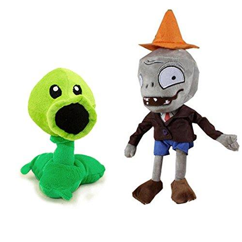 ToyswillPlants vs Zombies Plush Toys Conehead Zombie 10 Peashooter 17cm67 Tall