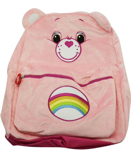 Full Size Pink Cheer Bear Care Bears Plush Material Backpack