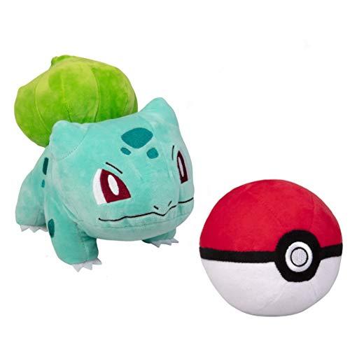 Pokemon Pokeball and 8 Bulbasaur Plush Stuffed Animal Toy - Set of 2