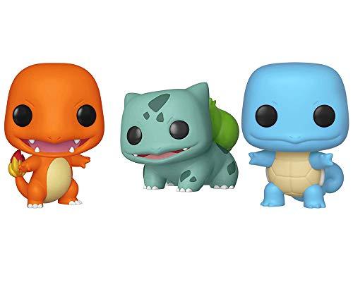 Pop Squirtle Bulbasaur Charmander Set of 3