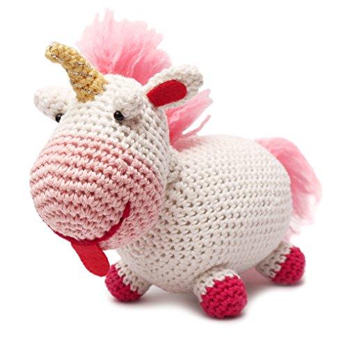 DaoOfThao Fluffy Unicorn Handmade Amigurumi Stuffed Toy Knit Crochet Doll VAC