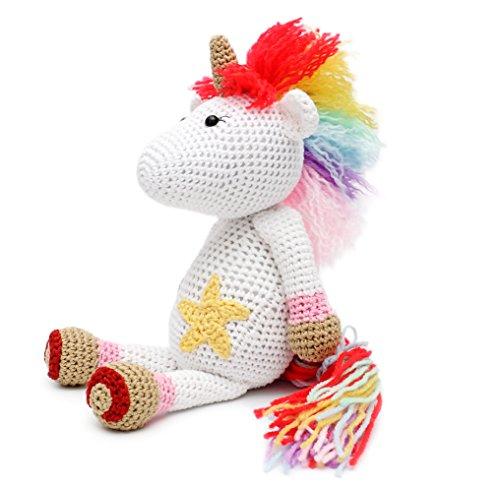Lils Fluffy Unicorn Handmade Amigurumi Stuffed Toy Knit Crochet Doll VAC