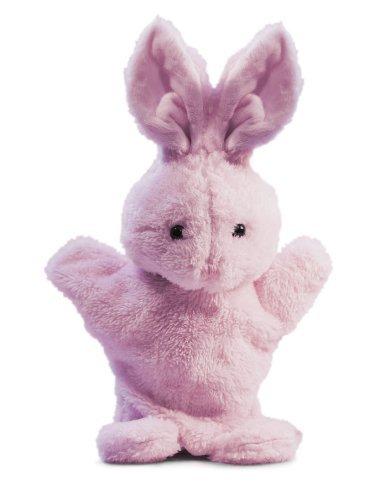 Beverly Hills Teddy Bear Company 6 inch Springtime Bunny Puppet in Pink by Beverly Hills Teddy Bear