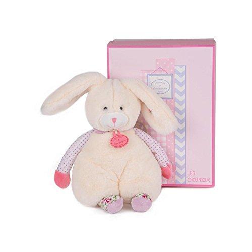 DOUDOU ET COMPAGNIE - Choupidoux Flat Plush Beige Bunny Puppet - DC2761