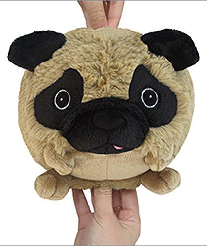Squishable Pug Dog Plush Tan Mini 7