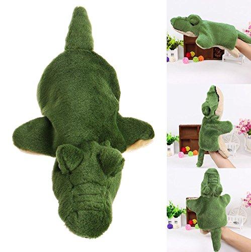 SCASTOE Kids Animal Hand Puppets Plush Crocodile Doll Baby Educational Teaching Toy