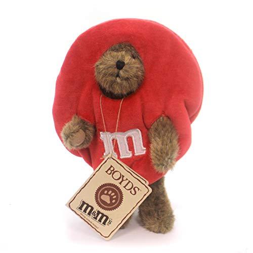 BOYDS BEARS PLUSH R M PEEKER Fabric M M Red Milk Chocolate Bear 919003