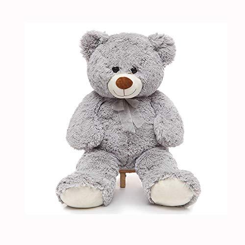 Toys Studio 36 inch Big Teddy Bear Cute Giant Stuffed Animals Soft Plush Bear for Girlfriend Kids Grey