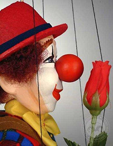 Clown Czech Marionette - Handmade Puppet