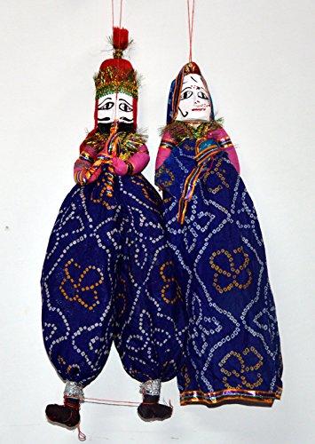 Ethnic Designer Colored Handmade Rajasthani Puppet Pair