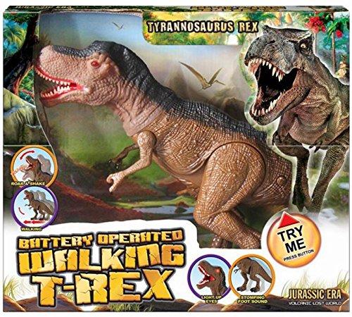 Jurassic Era Battery Operated Large Walking Tyrannosaurus Rex Dinosaur Toy With Sound