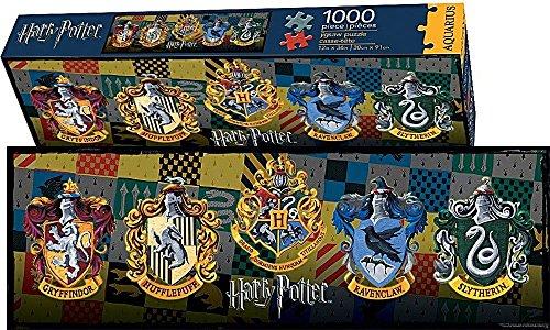 Aquarius Harry Potter Crests Slim Puzzle 1000 Piece
