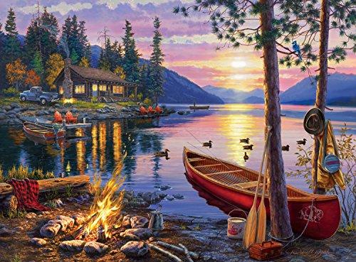 Buffalo Games Darrell Bush Canoe Lake Jigsaw Bigjigs Puzzle 1000 Piece