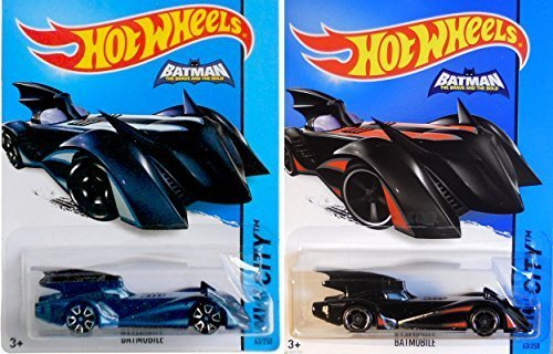 Brave The Bold 2015 Batmobile Hot Wheels 2 Car Variant Pack Batman 63 HW City IN PROTECTIVE CASES