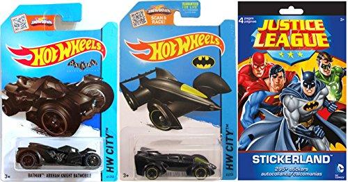 Justice League  Batman Hot Wheels Batmobile - Car Sticker set Arkham Knight  Batman Live Hot Wheels Series set Justice League Sticker Book