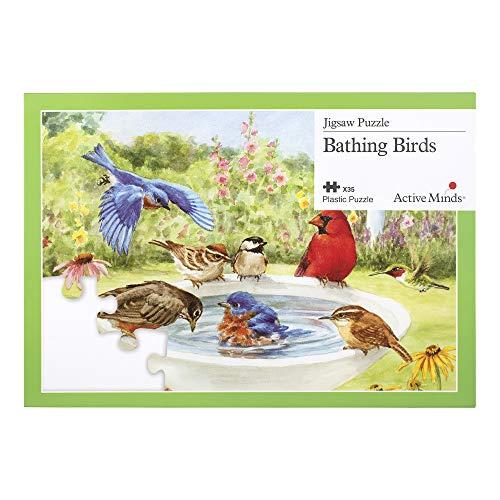 Active Minds 35 Piece Bathing Birds Jigsaw Puzzle  Specialist AlzheimersDementia Activities Games