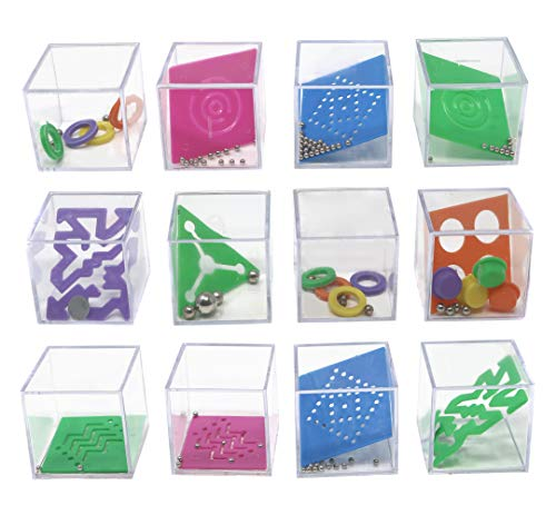 Mind Teaser Puzzle Cube Toys - Puzzle Games for Party Favors Goody Bags and Prizes - 15 Inch Educational Toys Stress Relief Toys 1 Dozen