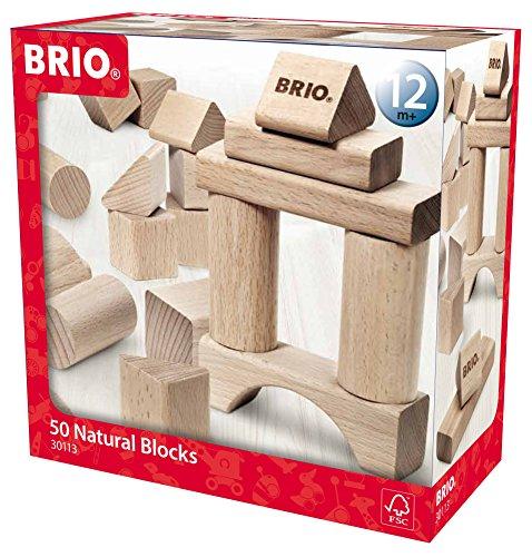 BRIO Wooden Block Set 50-Piece