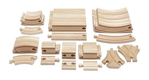 Maxim Enterprise Expansion Wooden Train Track Pack - Thomas FriendsBRIO Compatible 54-Piece