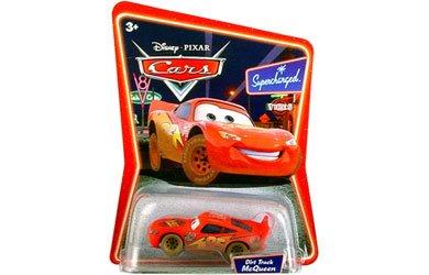 Disney  Pixar Cars 155 Scale Die Cast Car the World of Cars Dirt Track Lightning Mcqueen 03