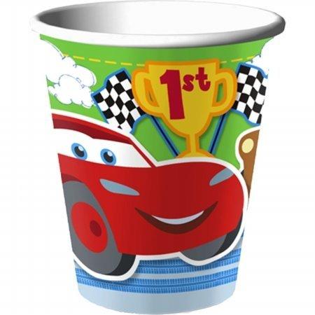 DisneyPixar Cars 1st Birthday Champ 9 oz Party Cups 8 Pack