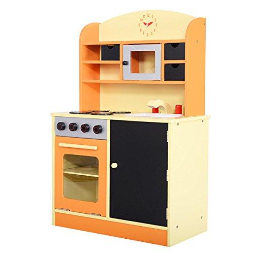 Giantex Wood Kitchen Toy Kids Cooking Pretend Play Set Toddler Wooden Playset