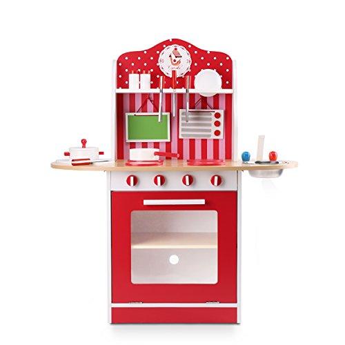 WildBird Care Uptown Kids Kitchen with Cooking Utensils Wooden Playsets KDK09
