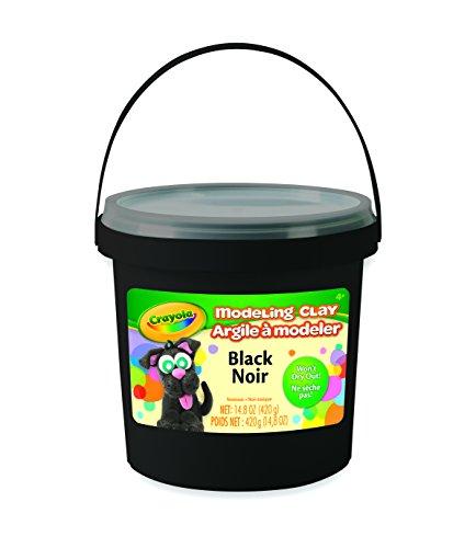Crayola 1 lb  Bucket Black Modeling Clay Net 148 oz