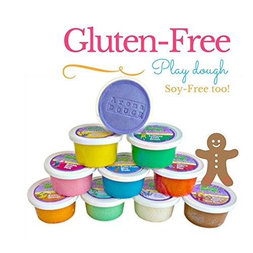 Aroma Dough Aromatherapy Dough - Organic Non-Toxic Soy-Free Gluten Free Play Dough for Kids - All Natural Aromas - Sensory Playdough 10 Pack - Christmas Stocking Stuffers for Kids