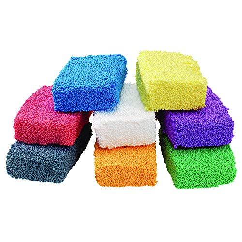 Colorations IncredibleFoam Dough 8 Colors 1 Ounce Each for Kids Educational Arts Crafts Kindergarten PreK Kids Toys Mess-Free