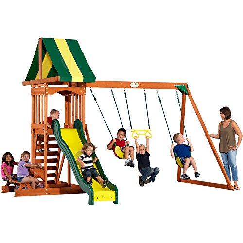 Backyard Discovery Prestige All Cedar Wood Playset Swing Set