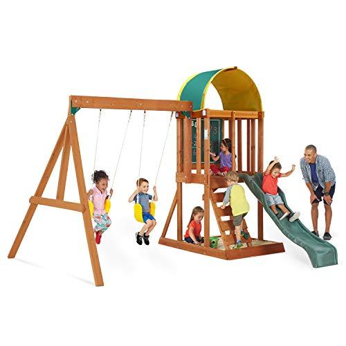 Big Backyard KidKraft Andorra Cedar Wood Swing Set  Playset F24140