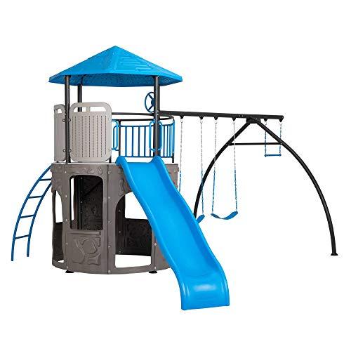 LIFETIME 90918 Adventure Tower Playset Swing Set Blue