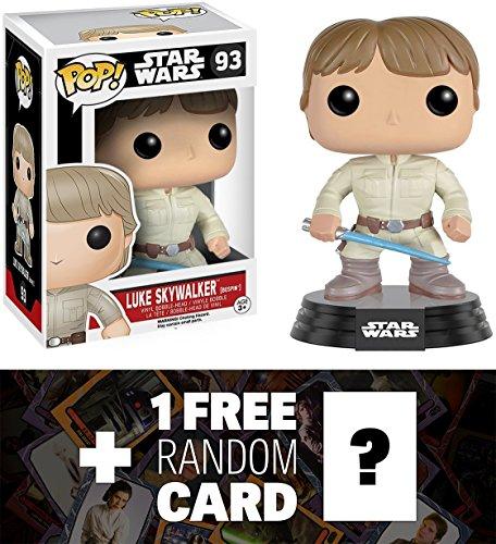 Luke Skywalker Bespin Funko POP x Star Wars Vinyl Bobble-Head Figure w Stand  1 FREE Official Star Wars Trading Card Bundle 087371