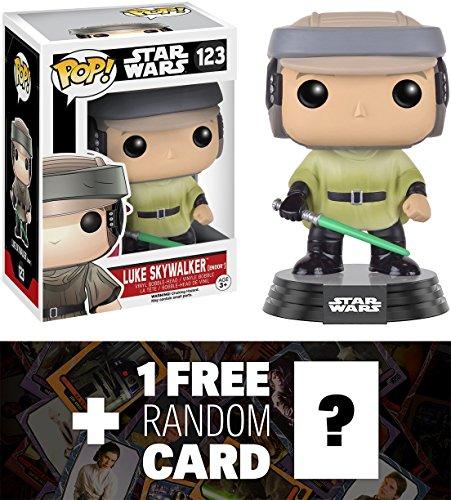 Luke Skywalker Endor Funko POP x Star Wars Vinyl Bobble-Head Figure w Stand  1 FREE Official Star Wars Trading Card Bundle 101066