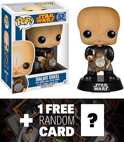 Nalan Cheel Funko POP x Star Wars Vinyl Bobble-Head Figure w Stand  1 FREE Official Star Wars Trading Card Bundle 57794