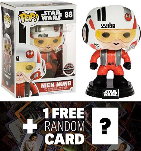 Nien Nunb GameStop Exclusive Funko POP x Star Wars Vinyl Bobble-Head Figure w Stand  1 FREE Official Star Wars Trading Card Bundle 065928